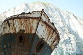 Berömda skeppsvraket på navagio beach - zakynthos grekland — Stockfoto