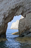 Famous blue caves view on Zakynthos island (Greece) — Stock Photo