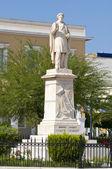 """Greece Ionian Islands Zante or """"Zakynthos"""" Statue of Dionysios — Stock Photo"""