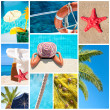 Stock Photo: Collage of summer beach images - Holidays concept