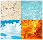 Four nature elements collage — Stock Photo