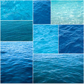 Water textures collage — Stock Photo