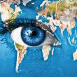 Planet Earth and blue human eye — Stock Photo #8822921
