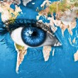 Royalty-Free Stock Photo: Planet Earth and blue human eye