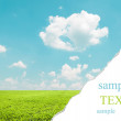 Stock Photo: Beautiful landscape wit teared corner for your text space
