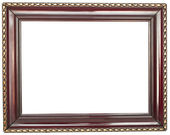 Antique wood frame — Stock Photo