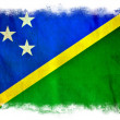 Stock Photo: Solomon Islands grunge flag