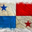 Panama grunge flag — Stock Photo