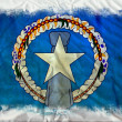 Stock Photo: Northern Marianas grunge flag