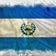 Stock Photo: El Salvador grunge flag