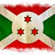 Burundi grunge flag — Stock Photo