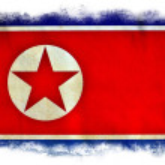 North Korea grunge flag — Stock Photo