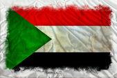 Sudan grunge flag — Stock Photo