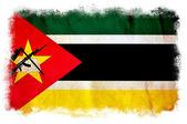 Mozambique grunge vlag — Stockfoto