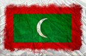 Bandera de grunge de maldivas — Foto de Stock