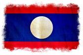 Drapeau de grunge de laos — Photo