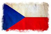 Checz Republic grunge flag — Stock Photo