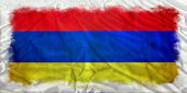 Armenia grunge flag — Stock Photo