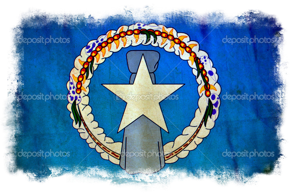 Northern Marianas grunge flag — Stock Photo #8975356
