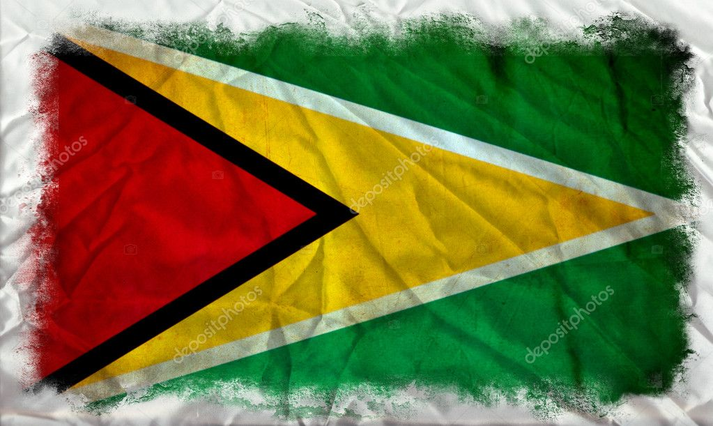 Guyana grunge flag — Stock Photo #8975914
