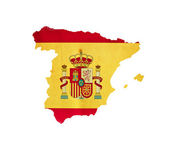 Map of Spain isolated — Stock Photo