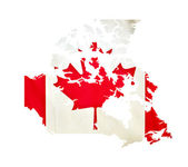 Map of Canada isolated — Stock Photo