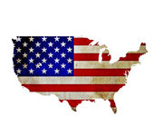Map of United States of America isolated — Stock Photo