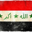 Stock Photo: Iraq grunge flag