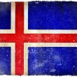 Iceland grunge flag — Stock Photo