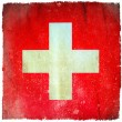Stock Photo: Switzerland grunge flag