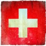 Switzerland grunge flag — Stock Photo