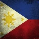 Grunge flag of Philippines — Stock Photo