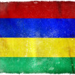 Stock Photo: Mauritius grunge flag