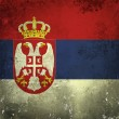 Grunge flag of Serbia — Stock Photo