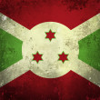 Grunge flag of Burundi — Stock Photo