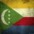 Grunge flag of Comoros — Stock Photo