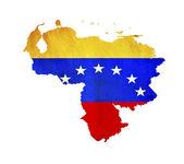 Map of Venezuela isolated — Stock Photo