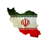 Map of Iran isolated — Stock Photo