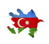 Map of Azerbaijan isolated — Stock Photo