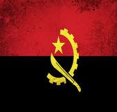 Grunge flag of Angola — Stock Photo