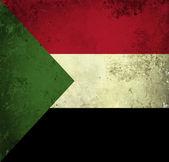Grunge flag of Sudan — Stock Photo