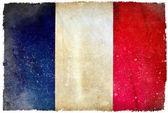 Frankrike grunge flagga — Stockfoto