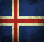 Grunge flag of Iceland — Stock fotografie