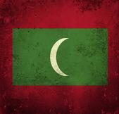 Bandeira do grunge das maldivas — Foto Stock
