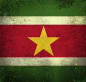 Grunge flag of Suriname — Stock Photo