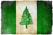 Norfolk Island grunge flag — Stock Photo