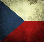 Grunge vlag van tsjechië — Stockfoto