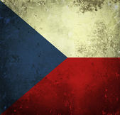 Bandeira do grunge da república checa — Foto Stock