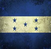 Bandeira do grunge de honduras — Foto Stock