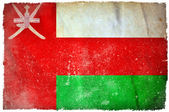 Drapeau de grunge Oman — Photo